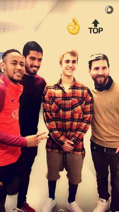 Neymar,Suarez,Justin and Messi