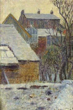 Dod Procter - Winter Scene from the Artist's House, Newlyn