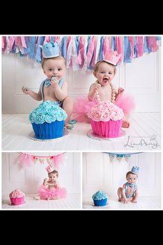 idea for twins smash cake sesh.