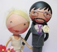 So cute!  Wedding Cake Topper