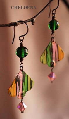 Vintage Candy  Hand Painted Earrings by cheldena on Etsy, $44.00
