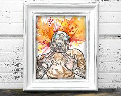 Borderlands Psycho Inspired Art Print Watercolor 8x10 by Gatohy