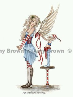 Fairy Art Artist Amy Brown: The Official Online Gallery. Fantasy Art, Faery Art, Dragons, and Magical Things Await. Amy Brown Fairies, Elves And Fairies, Dark Fairies, Dragons, Fairy Drawings, Kobold, Fairy Pictures, Christmas Fairy, Beautiful Fairies