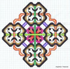 Graph Paper art made by myself , Angelika's Treasures Pixel Art, Geometric Drawing, Pixel Drawing, Graph Paper Art, Zentangle Patterns, Paper Drawing, Paper Art, Blackwork Designs, Pattern Art