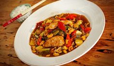 Sweet & Sour Chicken with Cashews - Good Chef Bad Chef