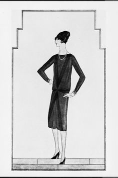 "In 1926 Gabrielle ""Coco"" Chanel published a picture of a short, simple black dress in American Vogue. Vogue named this dress ""Chanel's Ford"". It was a dress accessible to women of all social classes. Vogue said the dress was ""a sort of uniform for all women of taste."" #LittleBlackDress"