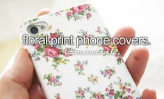 Floral print phone covers