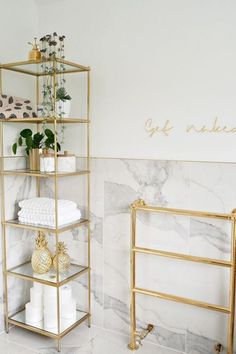 bathroom home decor house decoration luxury simple minimal white marble gold houseplants is part of Gold bathroom - bathroom decor Decor, Small Bathroom Decor, Gold Bathroom, Bathroom Decor, Gold Bathroom Decor, Bathroom Decor Luxury, Home Decor, Room Decor, Apartment Decor