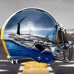 What is ur favorite football helmet? Mine is Navy Fleet helmets 2015 vs Army. S… – My CMS Cool Football Helmets, Football Team Gifts, Sports Helmet, Custom Football, Softball Gifts, Cheerleading Gifts, Sports Gifts, Football Season, Army Navy Football
