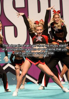 Cheerleading Confessions / Hollie can't wait to get back into the competitive cheer world again. Cheerleading Photos, Cheer Stunts, Cheer Dance, Cheerleading Memes, Competitive Cheerleading, School Cheerleading, Funny Cheer Quotes, Cheer Qoutes, Cheer Sayings