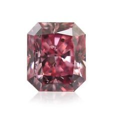 0.39 Carat Argyle Fancy Intense Pink Loose Diamond Natural Color Radiant Cut GIA