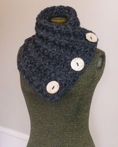 THE LANCASTER SCARF Chunky Hand Knit Scarf by BoPeepsBonnets, $58.00