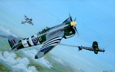 Hawker Tempest Fighting Plane, Hawker Tempest, Gloster Meteor, Hawker Typhoon, Air Force Aircraft, Airplane Art, Ww2 Planes, Aeroplanes, Royal Air Force