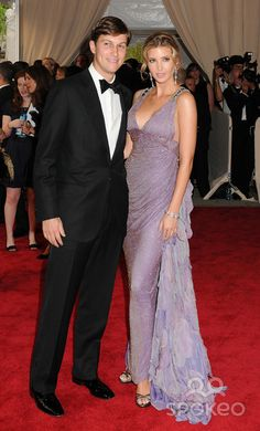 Ivanka with her now Husband Jared Kushner equally gorgeous pair ( Met Gala 2010)