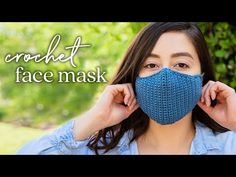 How to Crochet a Face Mask — Quick, Easy, & Adjustable Crochet Mask, Crochet Faces, Diy Crochet, Easy Face Masks, Diy Face Mask, Crochet Stitches, Crochet Patterns, Knitting Patterns, Simple Face