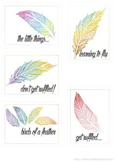Free Feathers Cards from scrappystickyinkymess