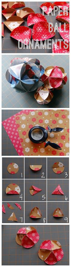 Maker Mama Craft Blog: Paper Ball Ornament Tutorial