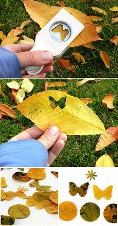 Autumn leaves and punch: Cool DIY scrapbook ideas you must add to your projects / Делаем из обычных осенних листьев декоративные элементы для скрапбукинга