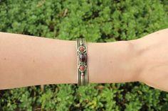 Amethyst metal stone adjustable cuff $7.95 USD  #boho #gypsy #bohojewelry #hippiejewlery #gypsyjewelry