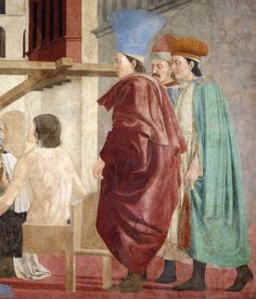 ❤ - PIERO DELLA FRANCESCA - (1415 - 1492) - Discovery and Proof of the True Cross, c. 1460 (detail). Fresco, (356 x 747 cm), San Francesco, Arezzo,Italy.