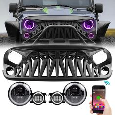 This particular jeep wrangler is seriously a noteworthy style concept. Jeep Jk, Jeep Wrangler Jk, Jeep Wrangler Unlimited, Jeep Wrangler Front Bumper, Jeep Wrangler Headlights, Jeep Gear, Jeep Wrangler Accessories, Jeep Accessories, Jeep Cherokee