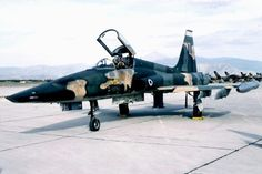 Photo taken at Tepsithea (LGTE) in Greece on November Fighter Aircraft, Fighter Jets, Hellenic Air Force, Tiger Ii, Freedom Fighters, Train Car, Military History, Military Aircraft, World War Two