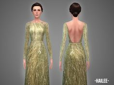 The Sims Resource: Hailee - gown by April • Sims 4 Downloads