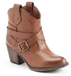Unleashed by Rocket Dog Women's Western Ankle Boots in Dark Brown