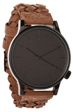 The Winston Woven Watch in Chestnut by KOMONO