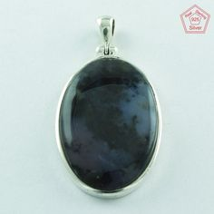 NEW .925 STERLING SILVER HANDMADE DENTRITIC OPAL STONE FASHION PENDANT P3384 #SilvexImagesIndiaPvtLtd #Pendant