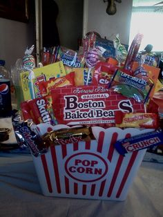 A just because candy basket