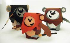 My Little Ewoks Papertoys from Ryan Hall
