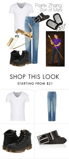 """""""Frank Zhang - Heroes of Olympus"""" by themarveldemigod ❤ liked on Polyvore featuring Paul Frank, T By Alexander Wang, Dr. Martens and River Island"""