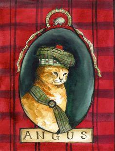Angus-Scottish chaton par amberalexander sur Etsy