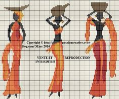African Lady x-stitch Free Cross Stitch Charts, Cross Stitch Bookmarks, Counted Cross Stitch Patterns, Cross Stitch Designs, Cross Stitch Embroidery, Tapestry Crochet, Hand Embroidery Patterns, Loom Patterns, Loom Beading