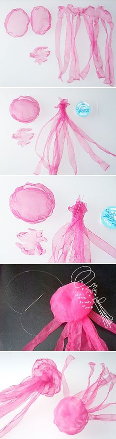 People asked me how to make jellyfish accessories when I blogged these on 8tokyo . And yes I'm lazy enough..., it was two years ago!! Sorr...