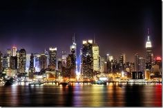 city skyline, always the best at night whichever country!  This of course is one of my faves... NYC