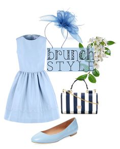 """Brunch Style - Perriwinkle"" by talk56 ❤ liked on Polyvore featuring RED Valentino, Dolce&Gabbana, Elorie, Easter, brunchstyle and eastersunday"