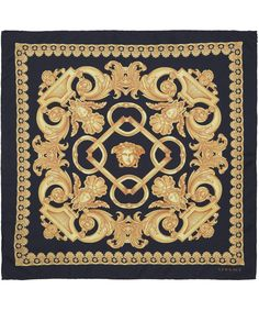 Versace Black Classic Baroque Print Silk Scarf | Scarves | Liberty.co.uk