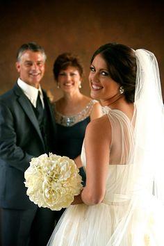 Bride and bride's parents