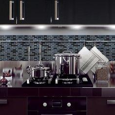 Smart Tiles Mosaik Self Adhesive High-Gloss Mosaic in Multi