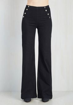 1930s to 1950s Sailorette the Seas Jeans in Dark Wash $69.99 AT vintagedancer.com
