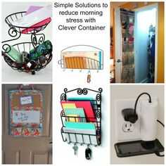 Simple Solutions for reducing morning stress with Clever Container.  Need more ideas?  Visit my Fb page: https://www.facebook.com/CleverContainerLisaWagner