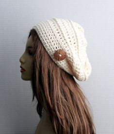 0ffe33994c6 Crochet Womens Hat Wool Beanie Chunky Winter Hat Ladies Boho Accessories  Chemo Hat Unique Gift