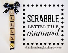 Scrabble tile ornaments would make cute gift tags as well Letter Ornaments, Christmas Ornament Crafts, Christmas Projects, Holiday Crafts, Holiday Fun, Christmas Crafts, Christmas Ideas, Scrabble Ornaments, Christmas Desserts