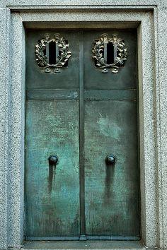 ˚Aged metal mausoleum doors in Recoleta cemetery - Buenos Aires