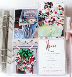 December Daily Days 10 - 19 by MarieL at For the menu Christmas Mini Albums, Christmas Journal, 25 Days Of Christmas, Christmas Scrapbook, Christmas Minis, Christmas Books, Christmas Projects, Christmas 2017, December Daily