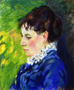 Armand Guillaumin (French, 1841-1927) - Portrait of the Artist's Wife, c. 1888 (pastel)