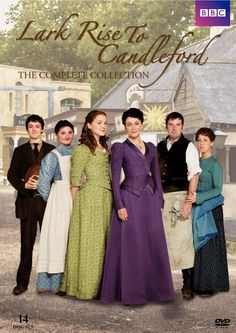 'Lark Rise to Candleford' 2008-2011 British TV series,adapted by BBC from Flora Thompson's trilogy of semi-autobiographical novels about the English countryside,published between 1939 & 1943.Series set in small Oxfordshire hamlet of Lark Rise & wealthier neighbouring market town of Candleford towards end of the 19th century.Chronicles daily lives of farm workers,craftsmen,& gentry, observing the characters in loving, boisterous,& competing communities of families,rivals,friends,& neighbours.