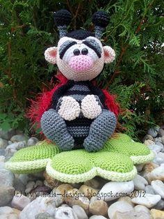 Ladybugs, clover, crochet pdf $ pattern